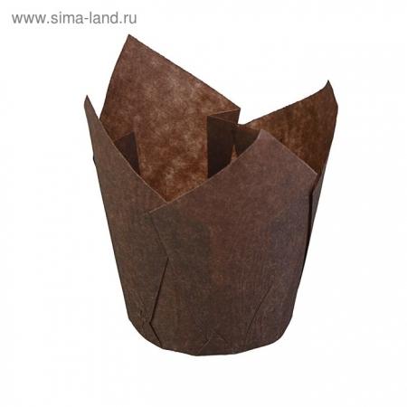 Бумажная капсула Тюльпан цвет коричневый 10 шт