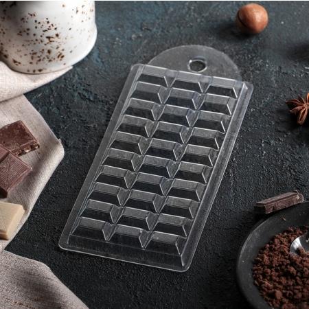 """Форма для шоколадной плитки """"Шоколад темный"""""""