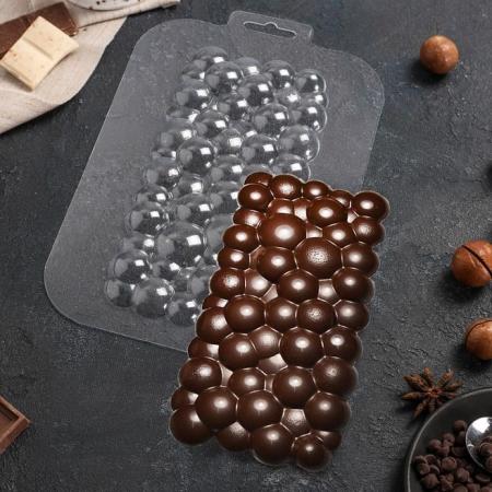 """Форма для шоколадной плитки """"Пузырьки"""""""
