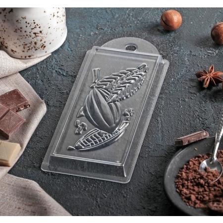 """Форма для шоколадной плитки """"Какао"""""""