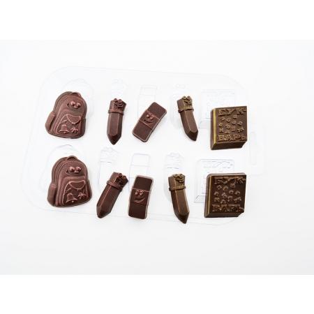 """Форма для шоколада """"Школьный набор"""""""