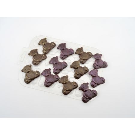 """Форма для шоколада """"Игрушечные медведи"""""""