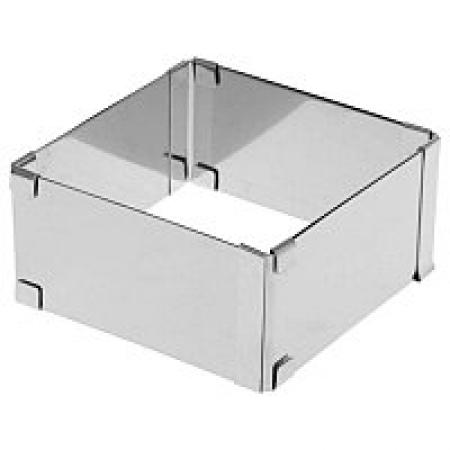 Форма раздижной квадрат 15-28 см, Н 10 см