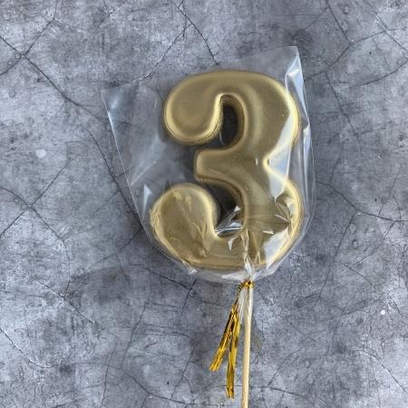 Пряник ЦИФРА 3 золото