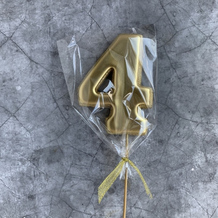Пряник ЦИФРА 4 золото