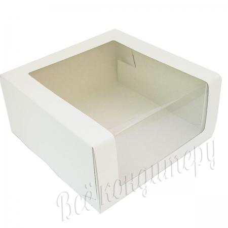 Коробка для торта с окном 225х225х110