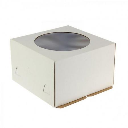 Коробка для торта 30х30х19 с окном