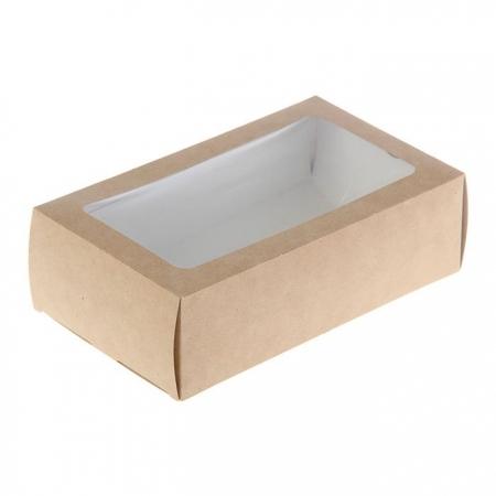 Коробка для макарун на 12 шт Крафт