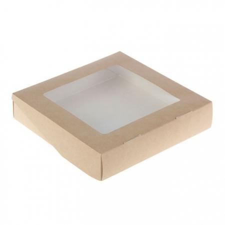 Коробка 20х20х4 Крафт
