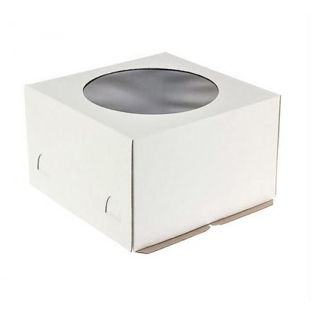Коробка 24х24х18 см гофрокартон С ОКНОМ