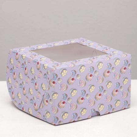 Коробка на 4 капкейка Капкейки