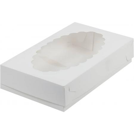 Коробка для эклеров с окошком 24х14х5 см