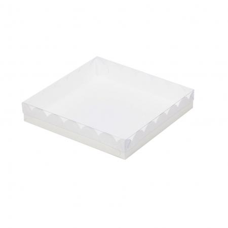 Коробка для пряников с прозрачной крышкой 12х12х3 см