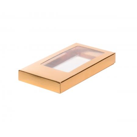 Коробка для шоколадной плитки Золотая
