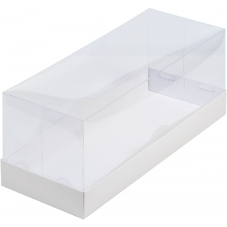 Коробка под рулет белая с пластиковой крышкой