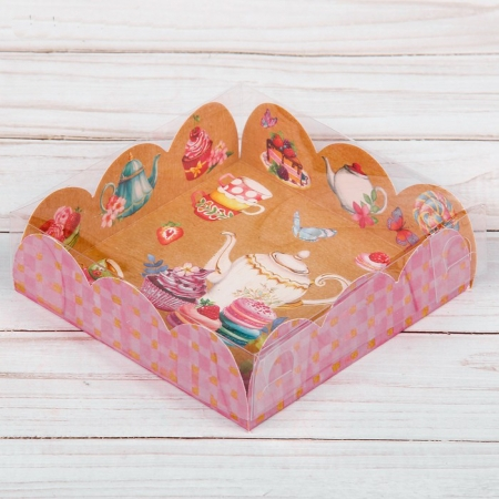 """Коробка для сладостей """"Чайный сервиз"""""""