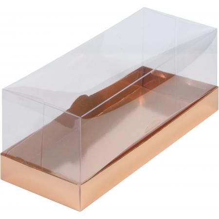 Коробка под рулет с пластиковой крышкой Золотая