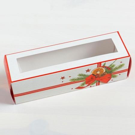 Коробка для макаронс Подарок