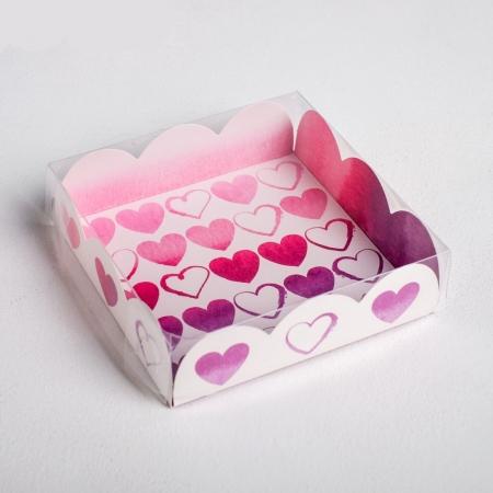 Коробка для сладостей 10,5х10,5х3 см