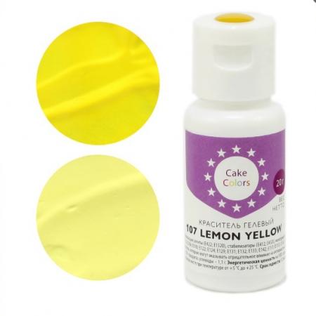 Краситель гелевый Cake Colors LEMON YELLOW 20 г