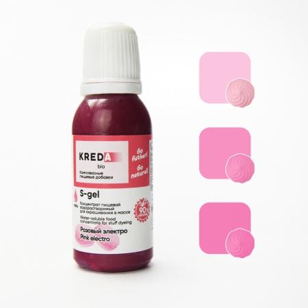 Краситель гелевый Kreda Розовый электро 20 мл