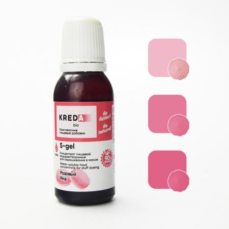 Краситель гелевый Kreda Розовый 20 мл