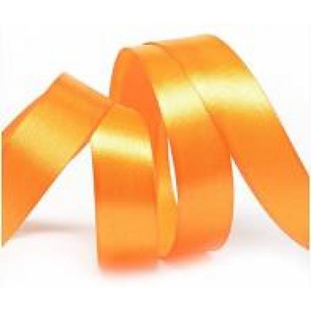Лента атласная 2 см Оранжевая