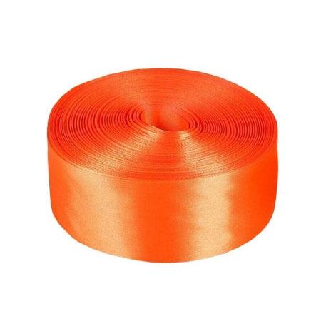 Лента атласная 4 см Оранжевая