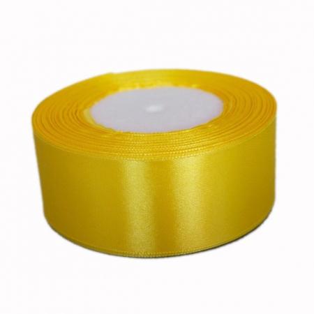 Лента атласная 4 см Желтая