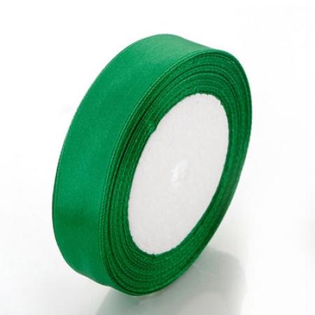 Лента атласная 2 см Зеленая