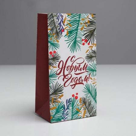 """Пакет бумажный для сладостей """"С новым годом"""""""