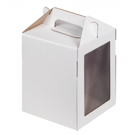 Коробка для Кулича белая 20х20х20