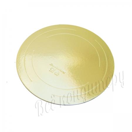 Подложка усиленная 3,2 мм d 26 см золото/жемчуг