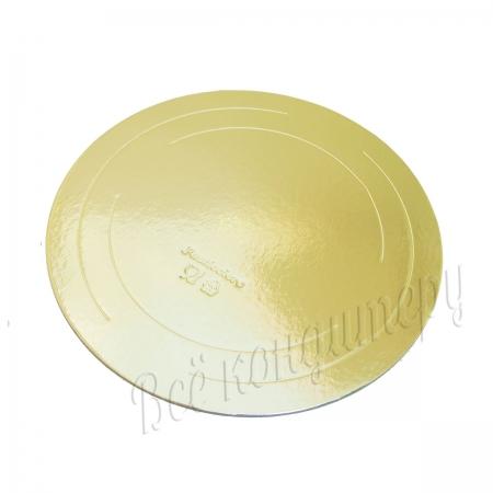 Подложка усиленная 3,2 мм d 28 см золото/жемчуг