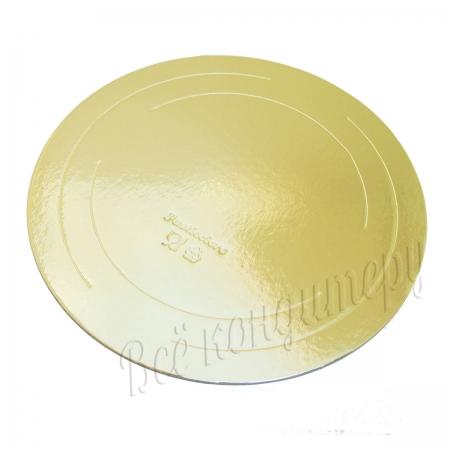 Подложка усиленная 3,2 мм d 30 см золото/жемчуг