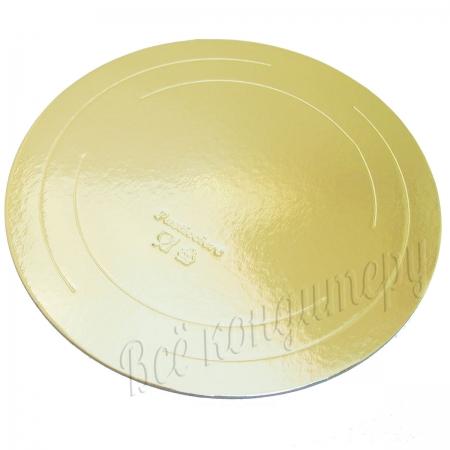 Подложка усиленная 3,2 мм d 42 см золото/жемчуг