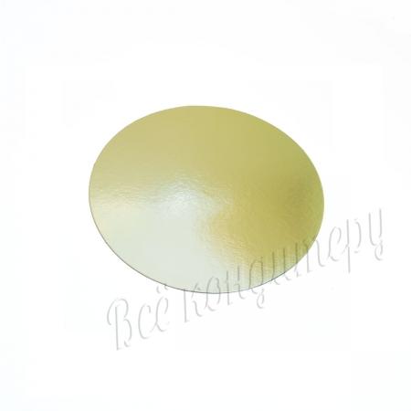 Подложка 1,5 мм d 20 см золото/жемчуг