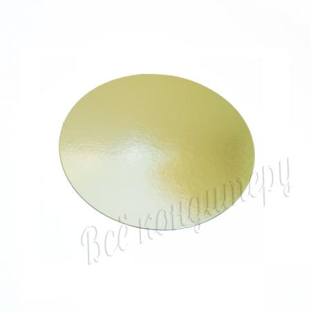 Подложка 1,5 мм d 24 см золото/жемчуг