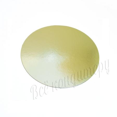 Подложка 1,5 мм d 26 см золото/жемчуг
