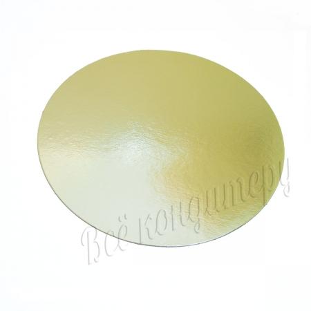 Подложка 1,5 мм d 30 см золото/жемчуг