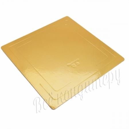Подложка усиленная 3,2 мм 26х26 см золото/жемчуг