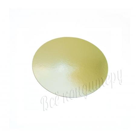 Подложка 1,5 мм d 16 см золото/жемчуг