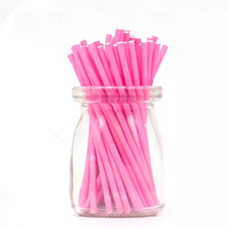 Палочки для кейкпосов 25 шт  Розовые 10 см