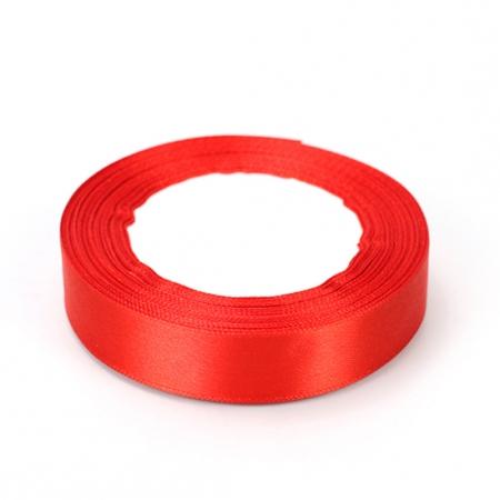 Лента атласная 2 см Красная