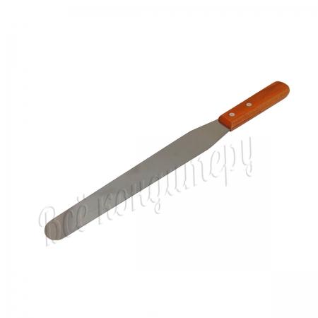 Лопатка металлическая с деревянной ручкой 32 см
