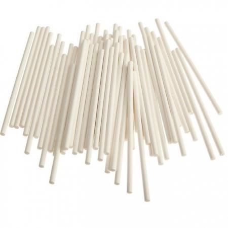 Палочки для кейкопсов белые 10 см 50 шт