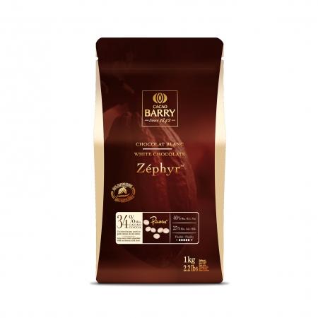 Шоколад белый 34% 1 кг Zephyr Cacao Barry