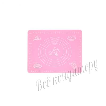 Силиконовый коврик 29х26 см Розовый
