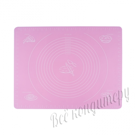 Силиконовый коврик 40х50 см Розовый