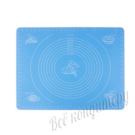 Силиконовый коврик 40х50 см Голубой